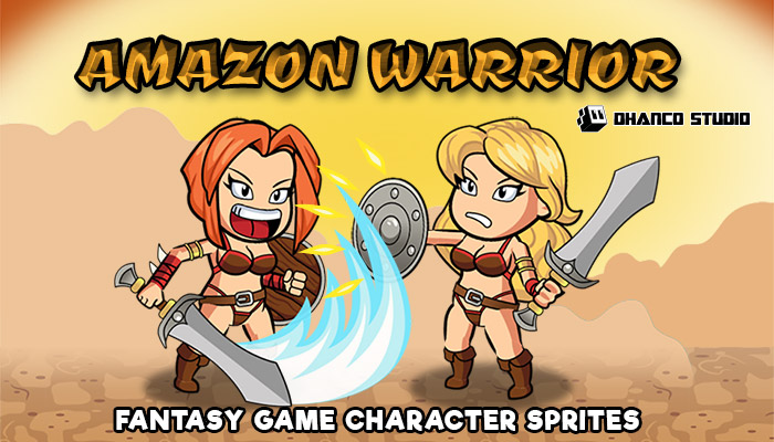 Amazon Warrior – Fantasy Character Spritesheet