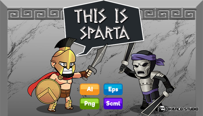 Spartan Soldiers – Characters Pack