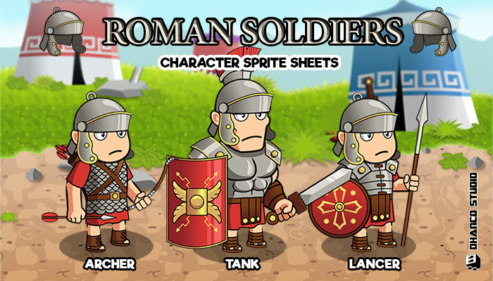 Roman Soldiers – Character Sprite Sheets
