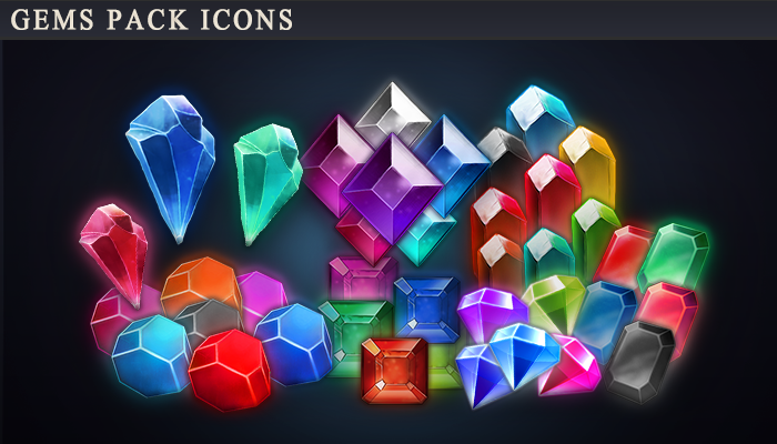 Gems Pack Icons