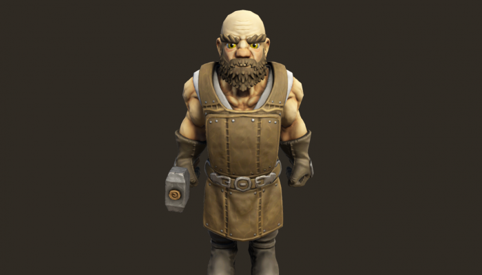 Stylized Dwarven Blacksmith PBR