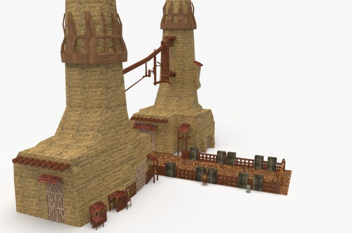 Medieval Windmill Environment