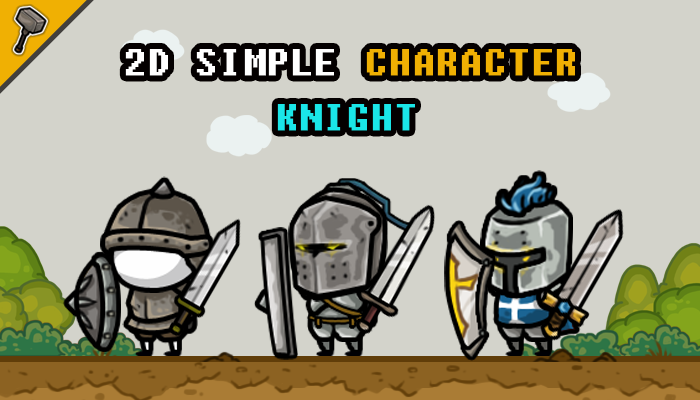 2D Simple Character : Knight