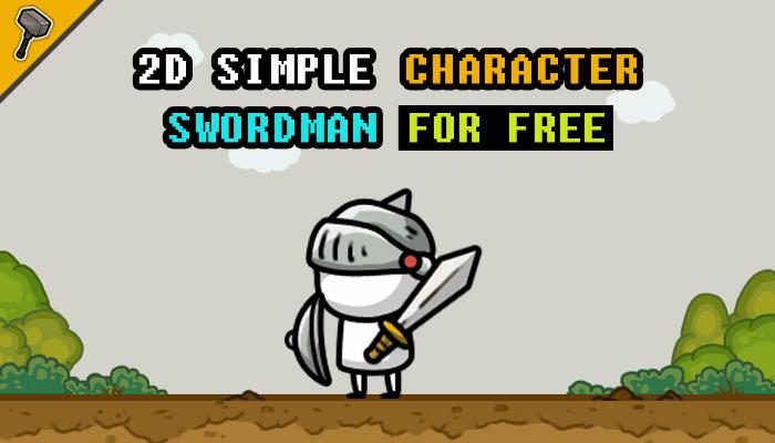 2D Simple Character : Swordman (FREE)