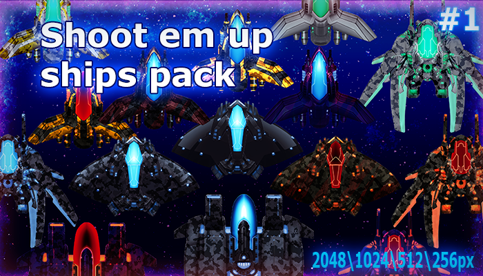 Shoot em up ships pack