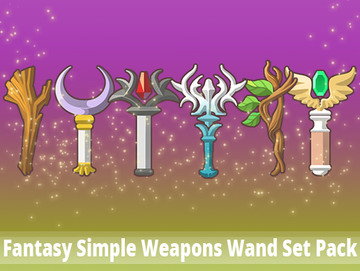 Fantasy Simple Weapons Wand Set Pack