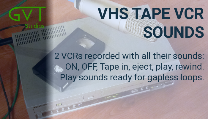 VHS cassette video tape VCR sounds