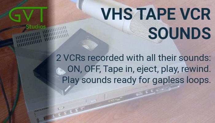 VHS cassette video tape VCR sounds