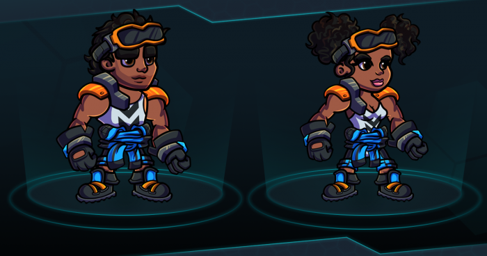 Scifi Mechanic Character