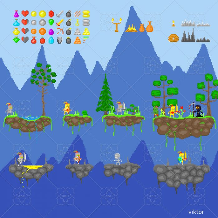 Pixel Platformer Asset Pack (Medieval theme)