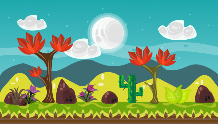 FREE 2D Vector Game Background