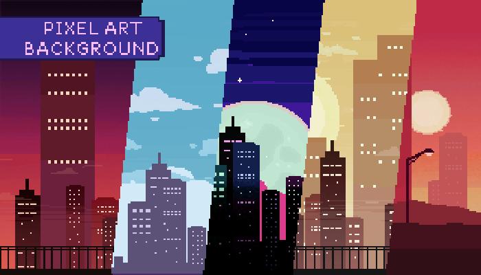 2D Pixel Art City Background Pack