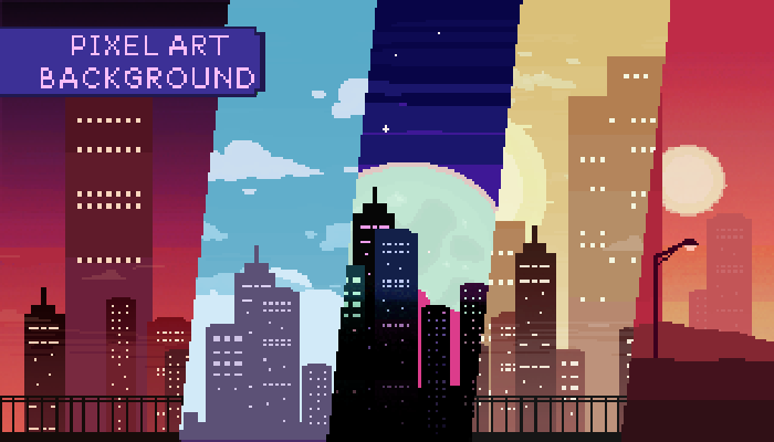 2D Pixel Art City Background Pack