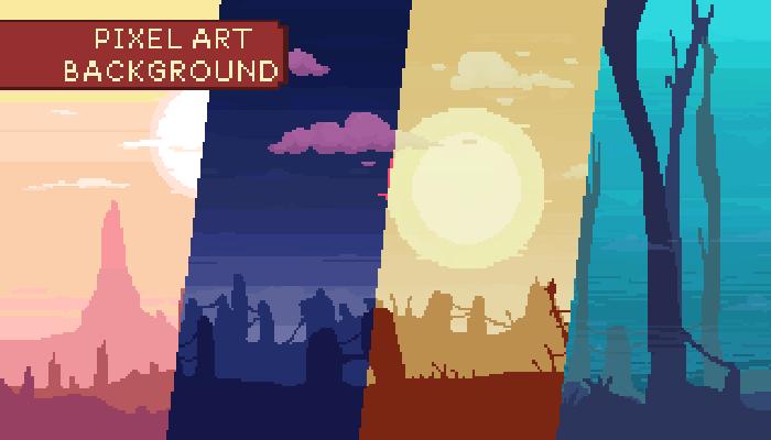 12 Parallax Pixel Art Background Pack