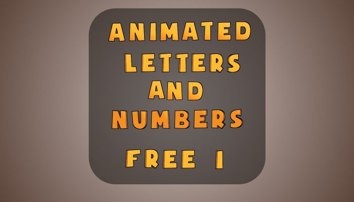 Animated Letters & Numbers 1 – Free