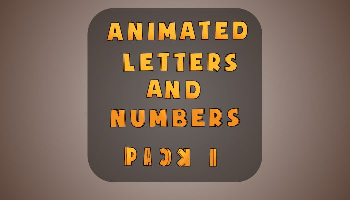 Animated Letters & Numbers – Megapack 1