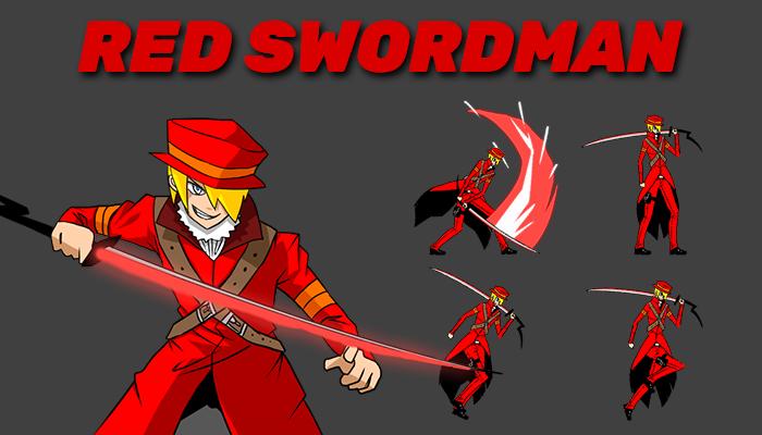 Red Swordman Character Sprite