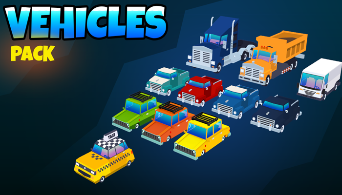 Low poly vehicles pack