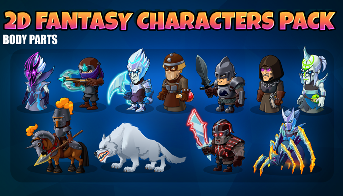 2D fantasy characters pack