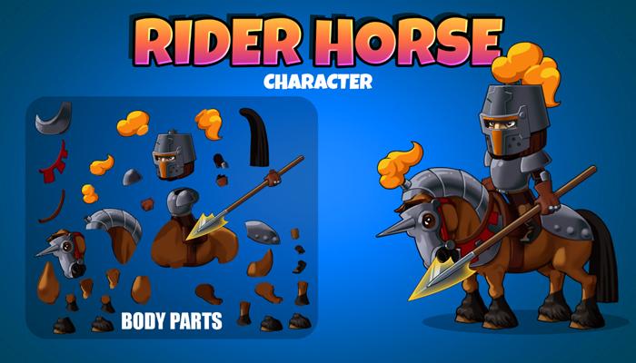 Rider horse