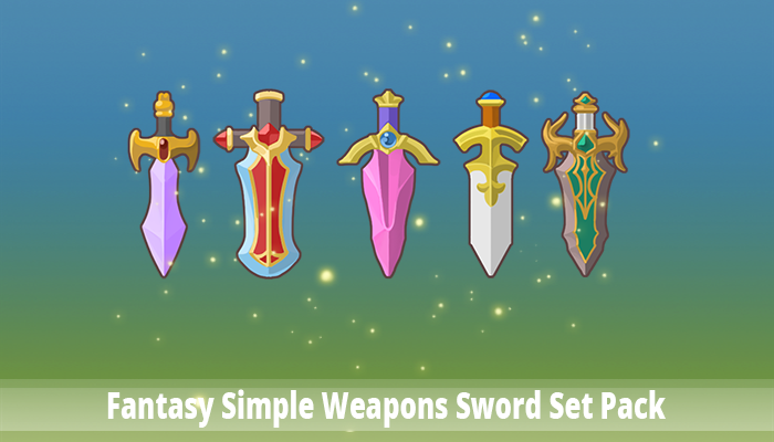 Fantasy Simple Weapons Sword Set Pack
