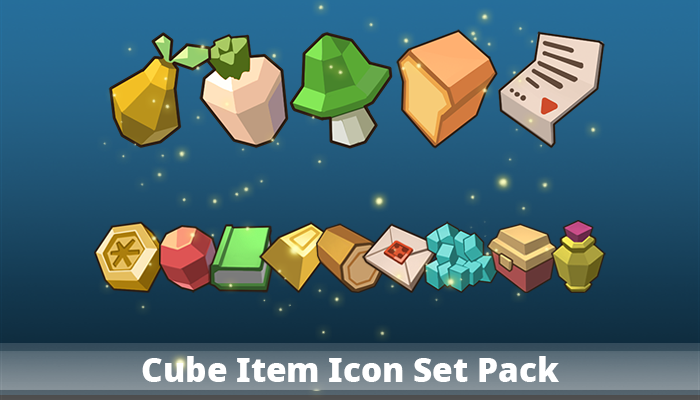 Cube Item Icon Set Pack