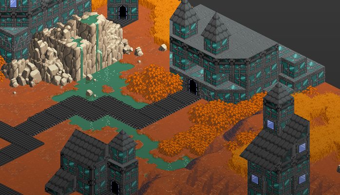 Isometric Tileset Alien City 1