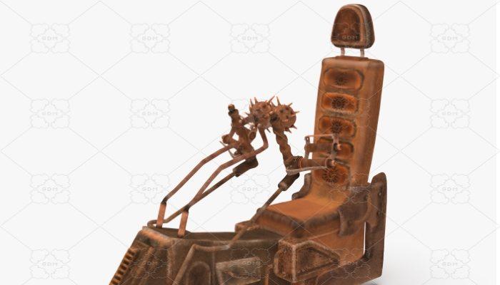 Sci-fi game cockpit seat