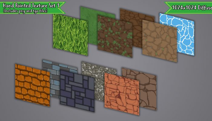 Hand Painted Tiling Texture Set 1