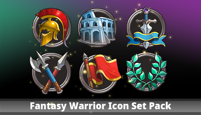 Fantasy Warrior Icon Set Pack