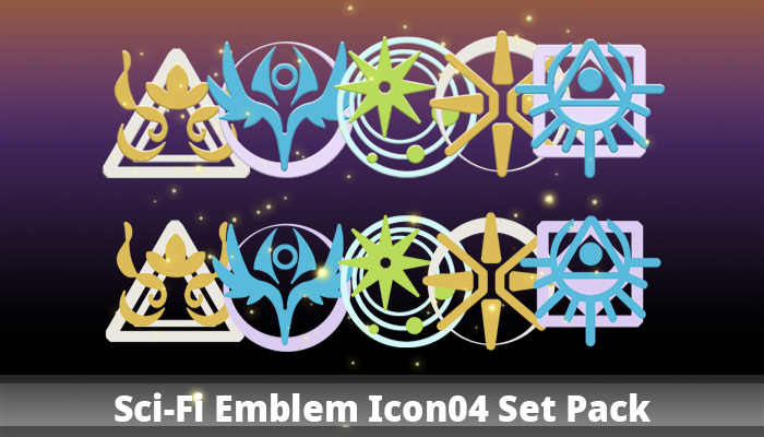 Sci-Fi Emblem Icon04 Set Pack