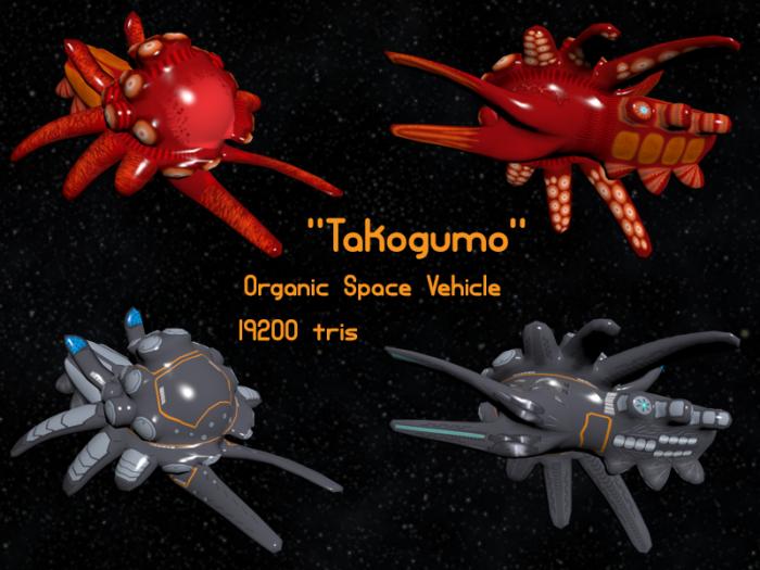 Takogumo Organic Spaceship
