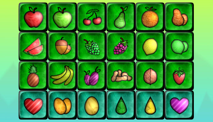 18 Fruits and Vegetables + 6 Extra Item