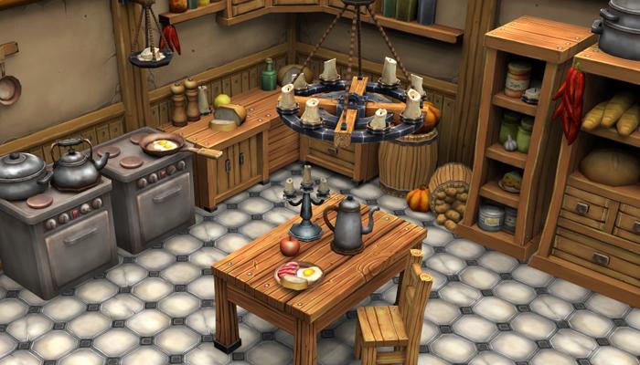 Stylized Kitchen
