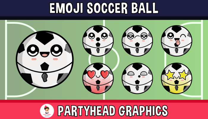 Emoji Emotion Faces Soccer Ball