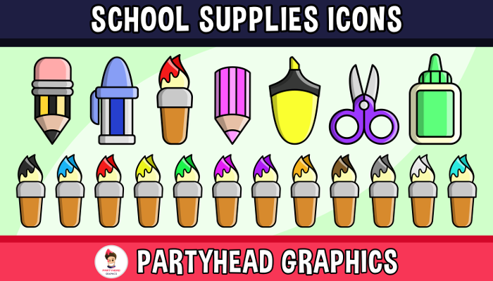 School Supplies Icons