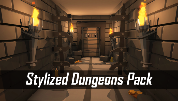 Stylized Dungeons Pack – Lowpoly Cartoon Asset