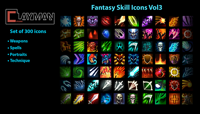 Fantasy Skill Icons Vol3