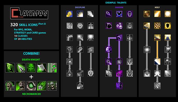Fantasy Skill Icons Vol2