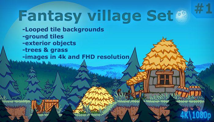 Fantasy village background set