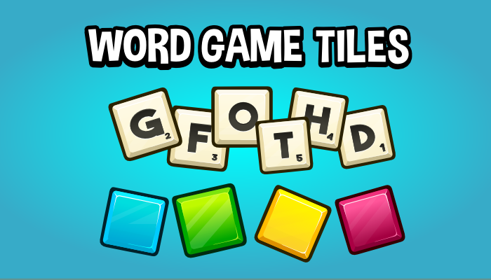 Word game tiles game assets
