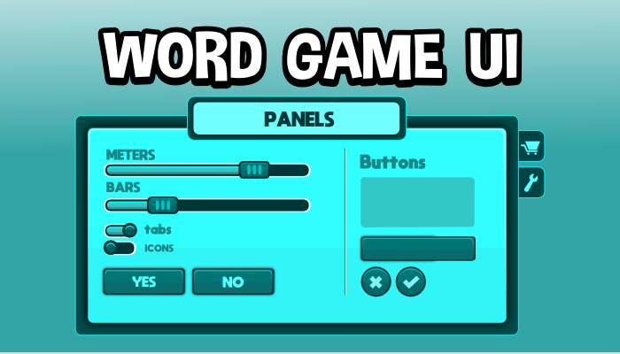 Word game ui pack