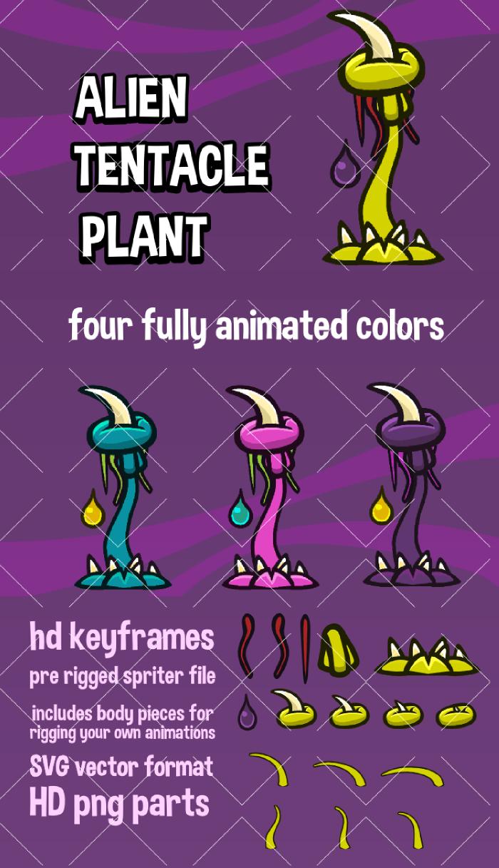 Alien tentacle plant