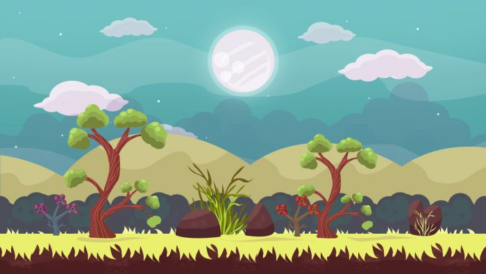 2D Game Forest Background 3