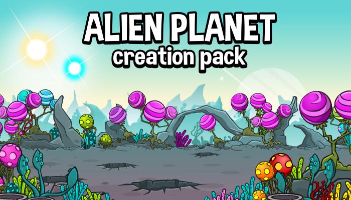 Alien planet scene creation pack