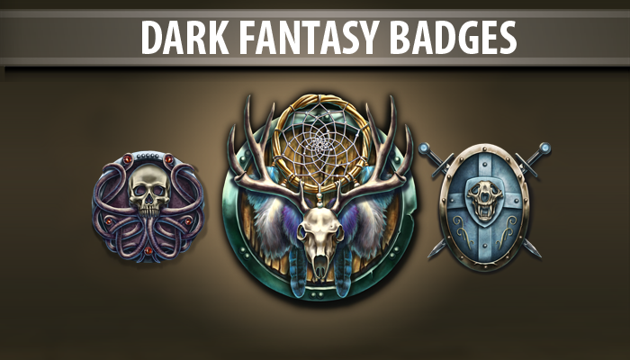 Dark Fantasy Badges
