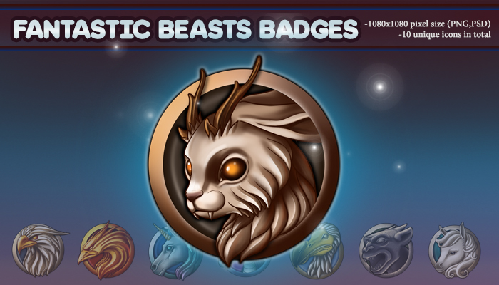 Fantastic Beasts Badges
