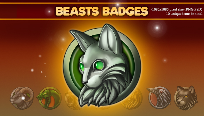 Beasts Badges