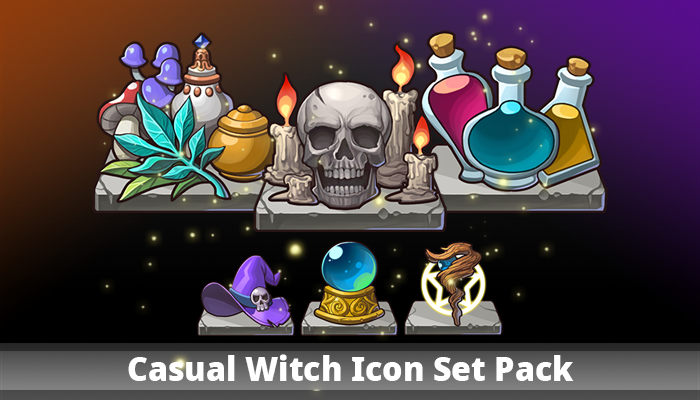 Casual Witch Icon Set Pack