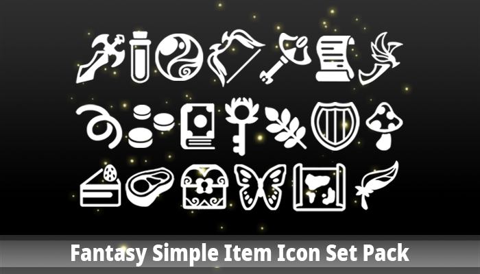 Fantasy Simple Item Icon Set Pack